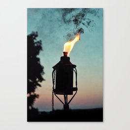 Tiki Sunsets Canvas Print