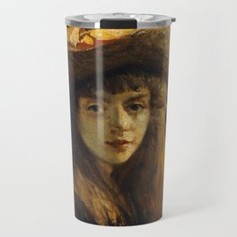 Courbet - Portrait of a Young Woman Travel Mug