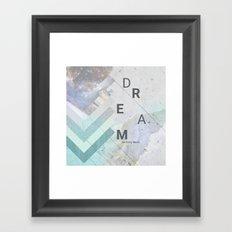 DREAM on many levels Framed Art Print