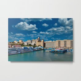 Port in Old San Juan.jpg Metal Print