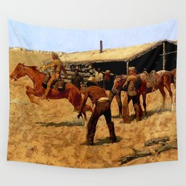 "Frederic Remington Western Art ""Pony Express"" Wall Tapestry"