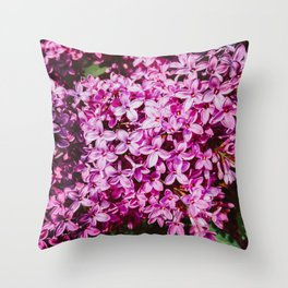 Purple Spring Lilacs Throw Pillow