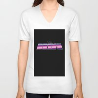 drive V-neck T-shirts featuring Drive by Jamesy