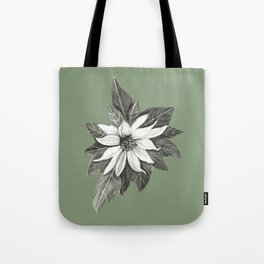 Florida Flower with Green Background Tote Bag