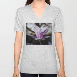 Magnolia flower at sunset Unisex V-Neck