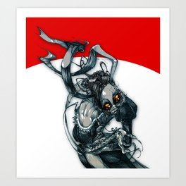 demon rabbit Art Print