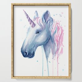 Blue Pink Unicorn Serving Tray