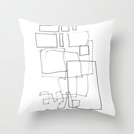 Line01 Throw Pillow