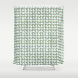 Amphibians Hopping Houndstooth Pattern Shower Curtain