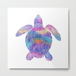 Watercolor Sea Turtle Metal Print