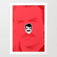 tom selleck Art Prints featuring Tom Selleck by dann matthews