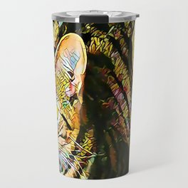 The TIGER from our FUNK YOUR FELINE line Travel Mug