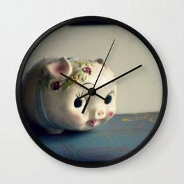 Pretty piggy Wall Clock