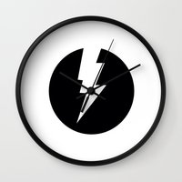 flash Wall Clocks featuring Flash by Mr & Mrs Quirynen