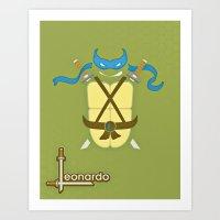 leonardo Art Prints featuring Leonardo by Laz Llanes