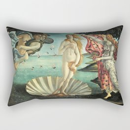 Sandro Botticelli's The Birth of Venus Rectangular Pillow