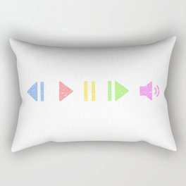 Pastel Music Controls Rectangular Pillow