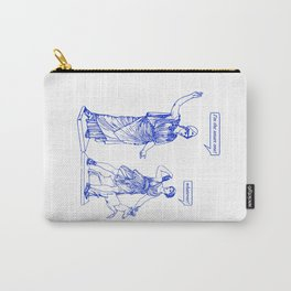 GODDESS STATUS  blue Carry-All Pouch