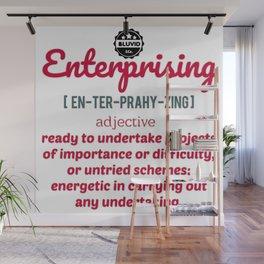 Enterprising defined bluvidly Wall Mural