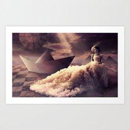 Paper world Art Print