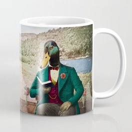 Monsieur Mallard Reading an Improving Book Coffee Mug