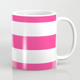 Barbie Pink (2004-2005) - solid color - white stripes pattern Coffee Mug