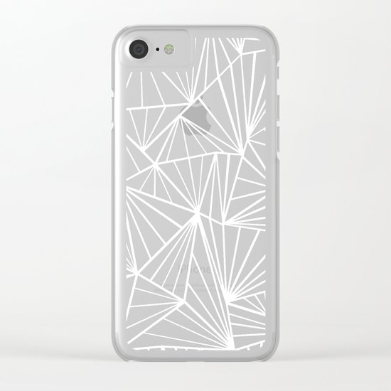 Ab Fan Electric Blue Clear iPhone Case