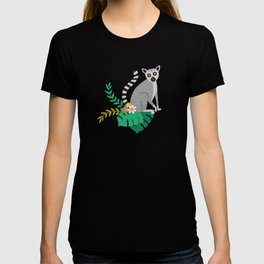Lemurs in Teal Jungle T-shirt