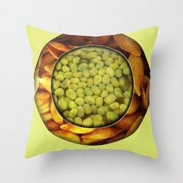Food Mix Tris Throw Pillow