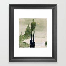 the fountain. Framed Art Print