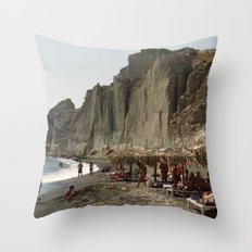 Eros Beach, Santorini Throw Pillow
