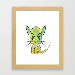 Alley Cat Kitten Framed Art Print