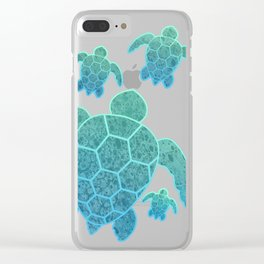 A Family of Sea Turtles Clear iPhone Case