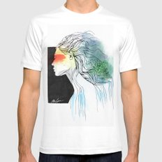 Mother of the Earth White Mens Fitted Tee MEDIUM