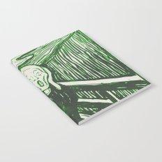 The Scream's Haze (green) Notebook