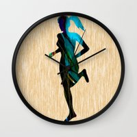 fitness Wall Clocks featuring Fitness by marvinblaine