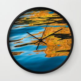 Golden Reflections Wall Clock