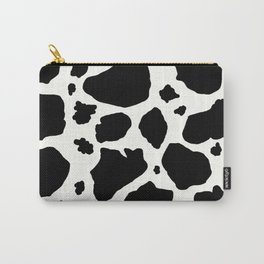 black and white animal print cow spots Carry-All Pouch