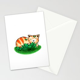 Ginger Sleeping Stationery Cards