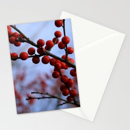 Red Winterberries Stationery Cards