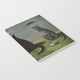 Three Cats with Clouds That Follow Them Everywhere by Gertrude Abercrombie Notebook