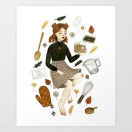 recipe witch Art Print