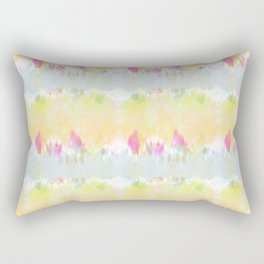 Summer Vibes Tie Dye in Sunshine Yellow Rectangular Pillow
