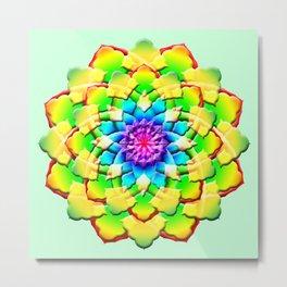 Prism Flower Mandala Metal Print
