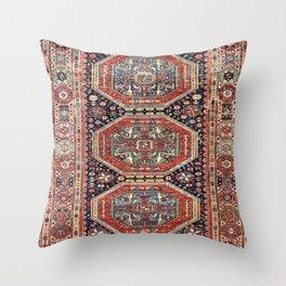 Kuba Sumakh Antique East Caucasus Rug Throw Pillow