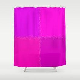 QUARTERS #1 (Purples, Magentas & Fuchsias) Shower Curtain