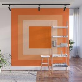 Orange Square Design Wall Mural