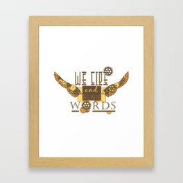 Cassandra Clare - We Live And Breathe Words Framed Art Print
