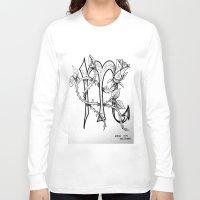 scorpio Long Sleeve T-shirts featuring Scorpio by Megan Dill