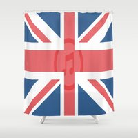 england Shower Curtains featuring  England by XKbeth